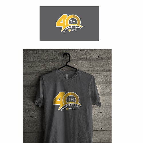 design T-shirt Anniversary 40th I  Kitco