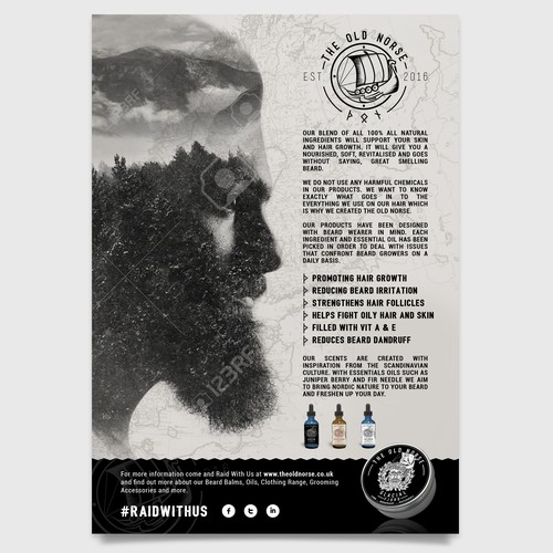 Poster for beard care products