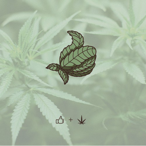 Hemp Leaf Thumbs Up