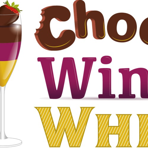 Chocolate, Wine, Whiskey Festival Logo