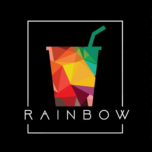 Rainbow juice & Bar shop logo