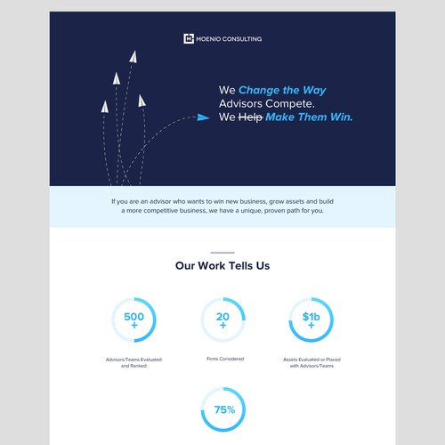 Landing Page for Moenio Consulting