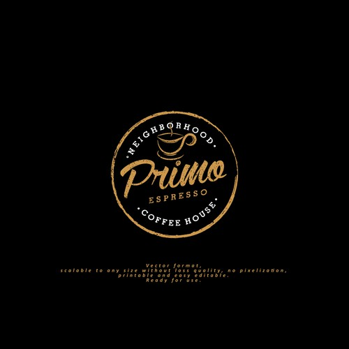 "Logo for ""Primo-coffee house"""