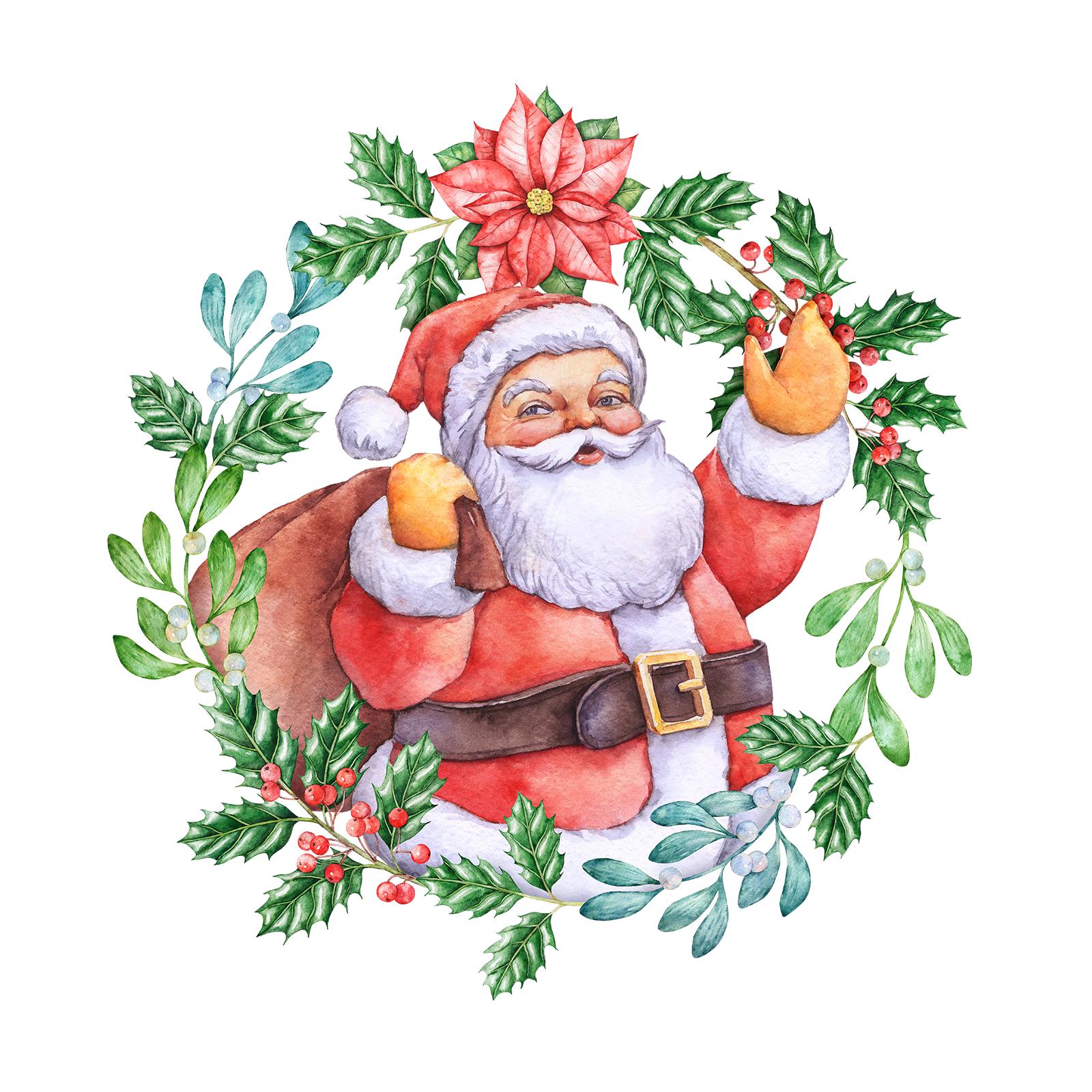 Watercolor Christmas Graphics