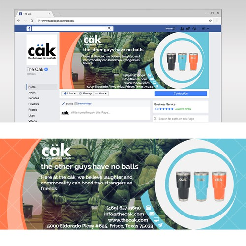 Facebook cover - the cak