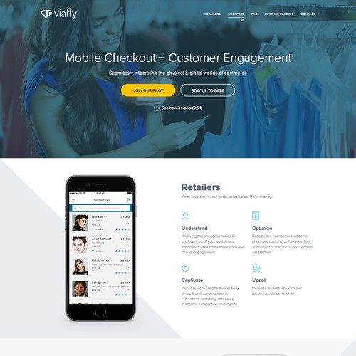 Landing Page for Viafly
