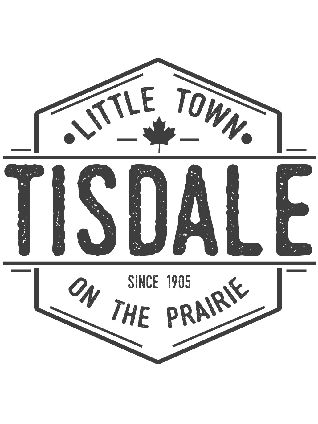 Design a hipster circle badge t-shirt for Little Town Apparel