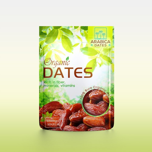 Simple Zipper Pouch design for Organic Dates