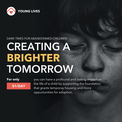 Non-profit campaign to raise awareness for abandoned children