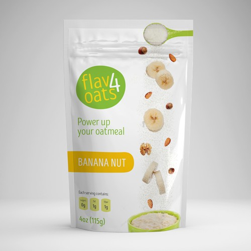 Packaging for oatmeal powder