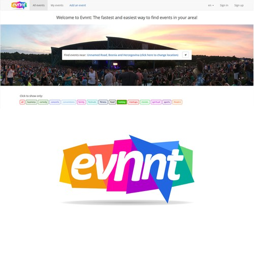 "Logo for ""evnnt.com """