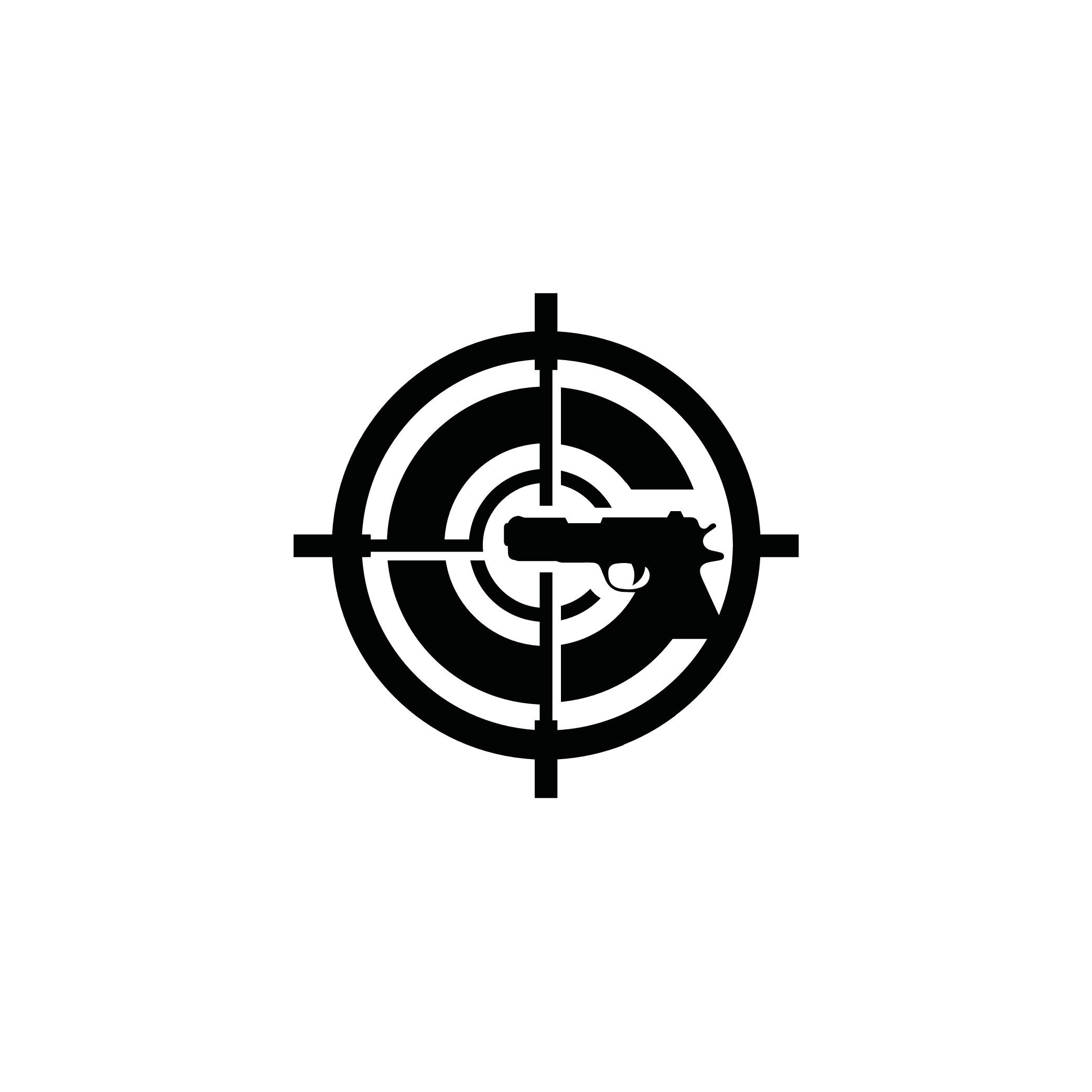 new gun range needs powerful logo