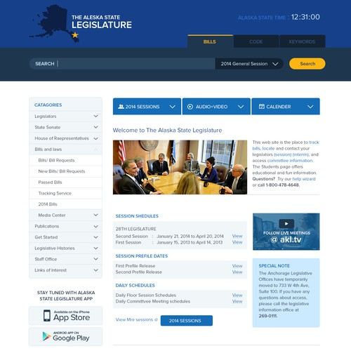 Alaska State Legislature Web Site