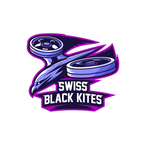 "Logo for drone racing team ""Swiss Black Kites"""