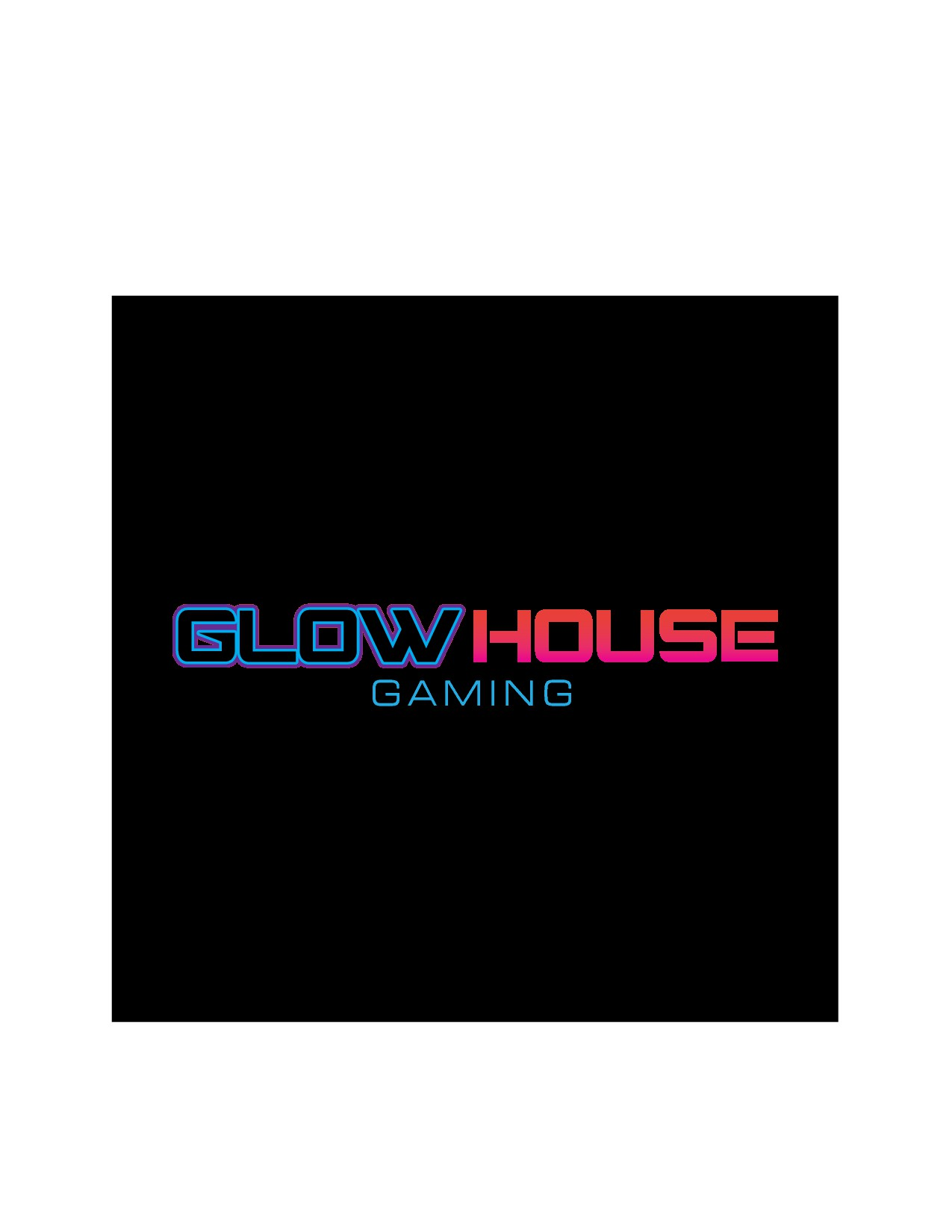 Design a shareable, wearable, hip, urban logo for GlowHouse Gaming