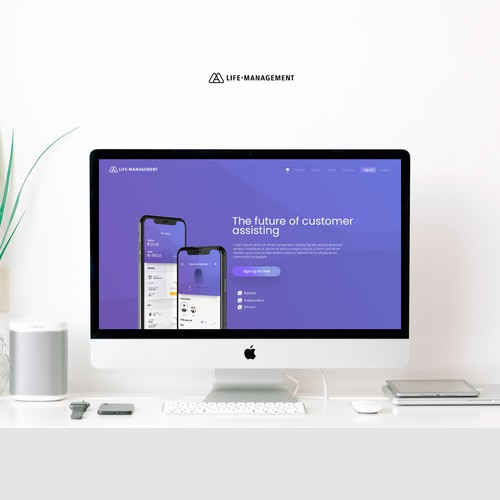 Life-Management Web Design