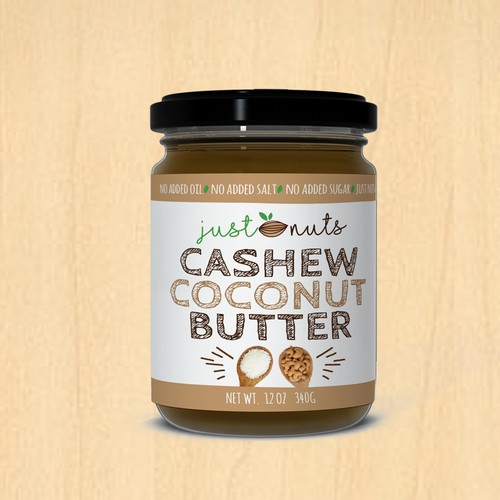 Fun label for nut butters.