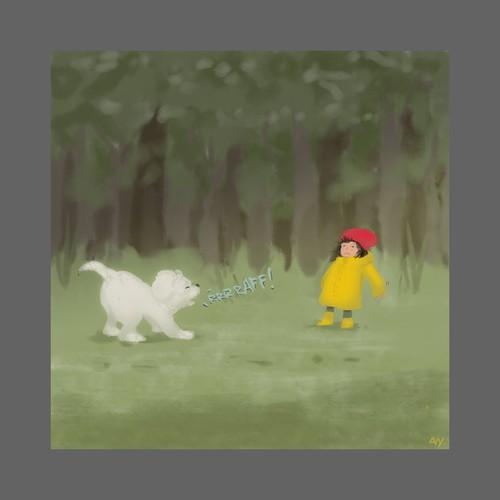 Warm Illustration mockup for childrens book