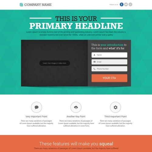 Help 99designs create professional generic landing page templates. Awarding multiple winners!