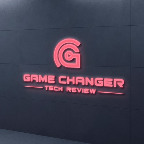 Youtube tech review channel logo design.