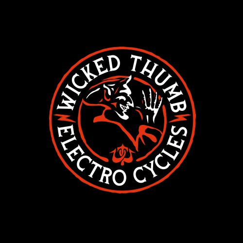 Rock n Roll inspired logo for electric bike builder