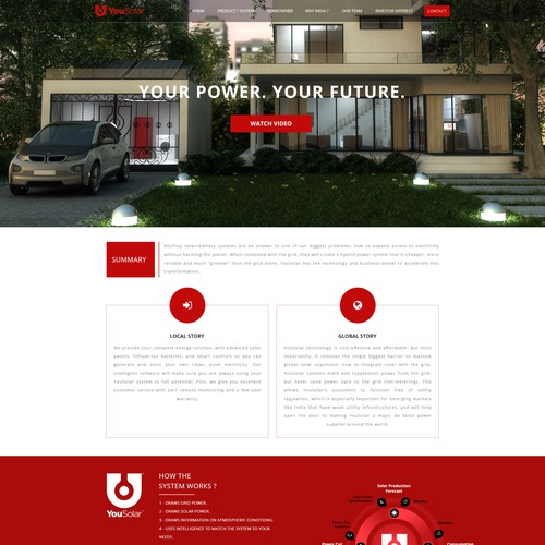 YouSolar - Creative Web Page Design