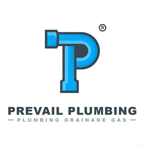 Prevail Plumbing Logo Design Concept
