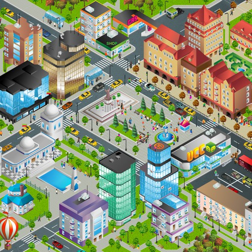 Colorful Vector City