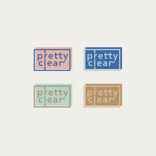 Logo proposal for 'pretty clear'
