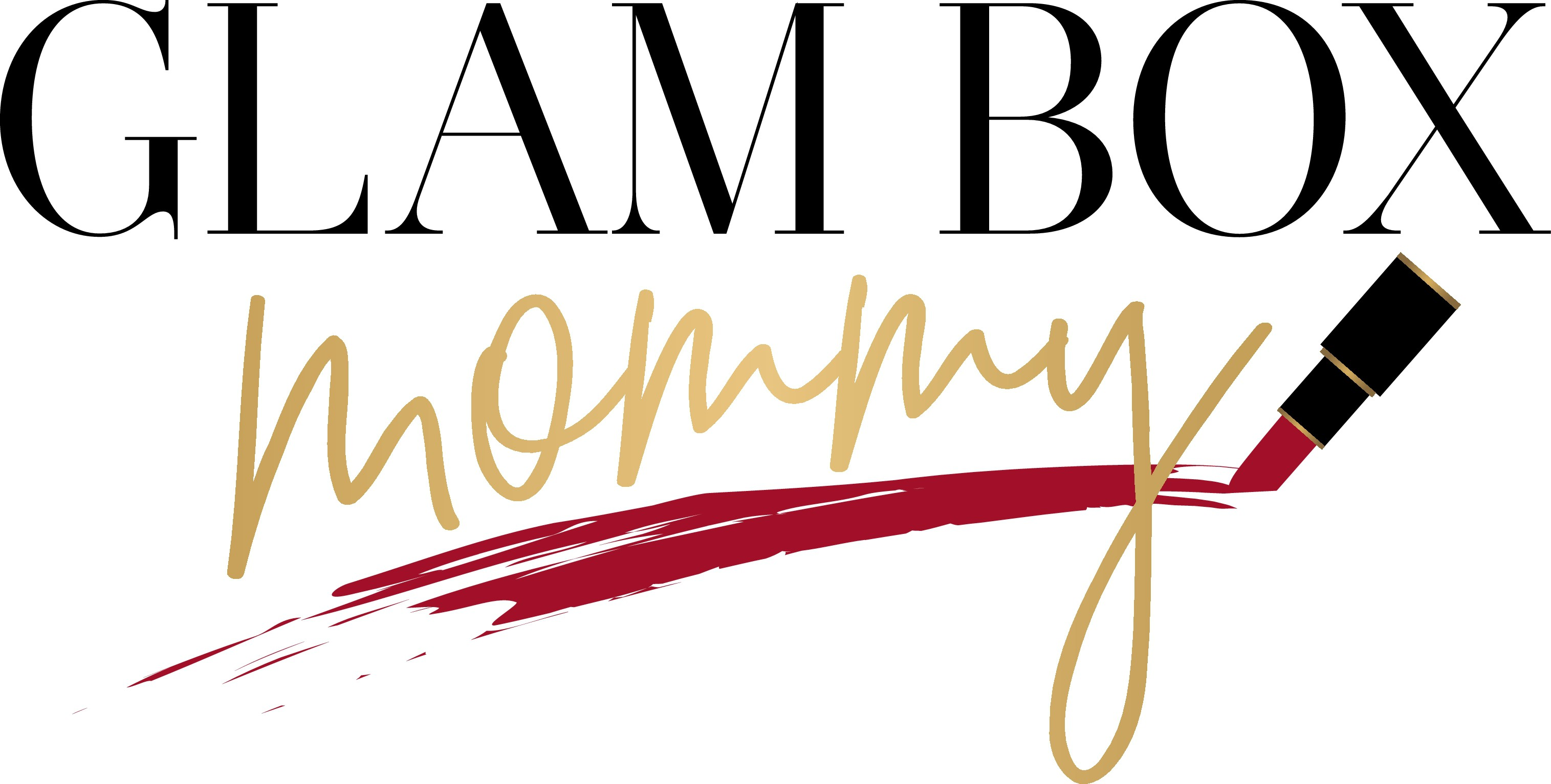 Create a beautiful logo for an online lipstick of the month club - Glam Box Mommy