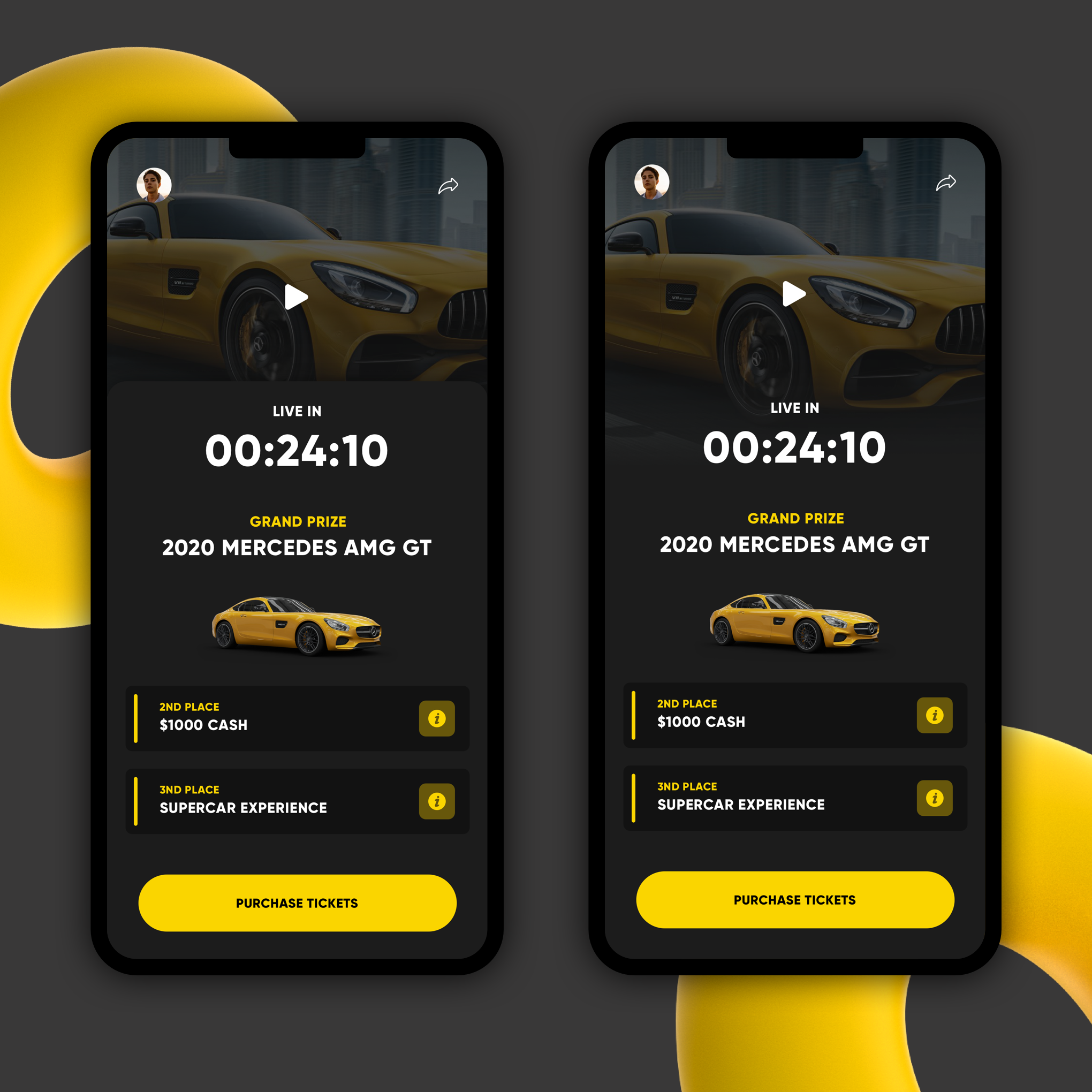 Eye-Catching App Design for the Ultimate Prize Giveaway App!