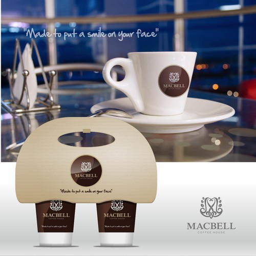 thru cafe logo design for MACBELL