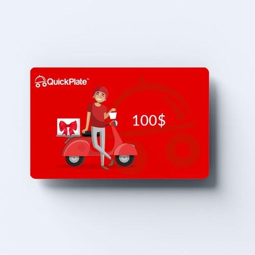 Minimal Gift card design
