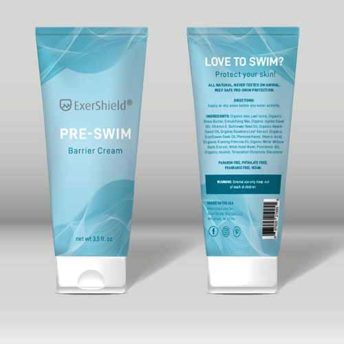 Package design for preswim lotion