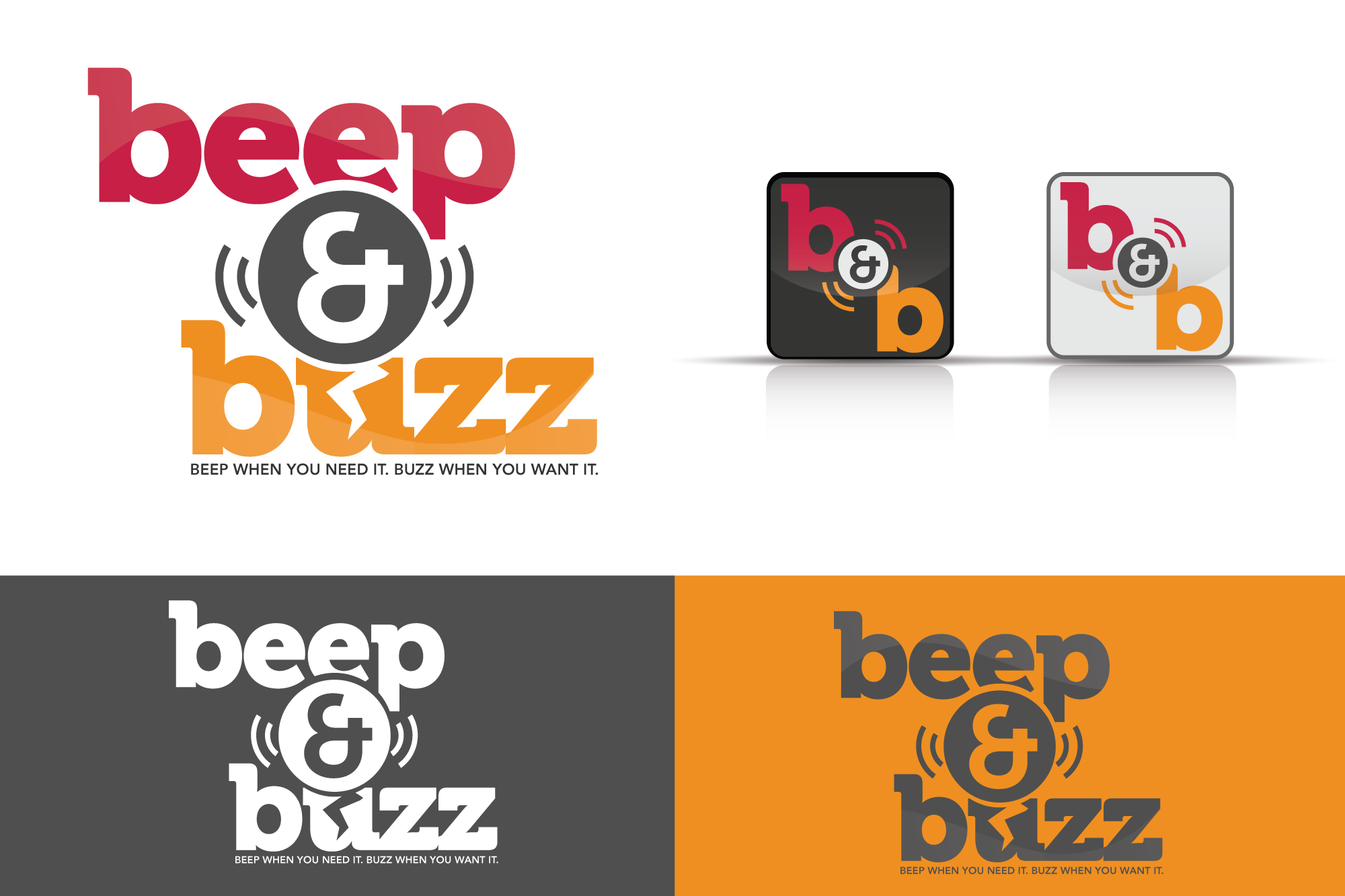 Help Beep & Buzz -- a location-based social networking app -- with a new logo!