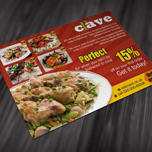 postcard, flyer or print for Crave