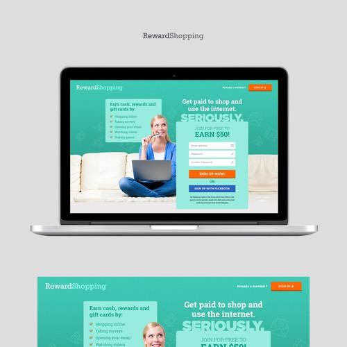 Reward Shopping Landing Page