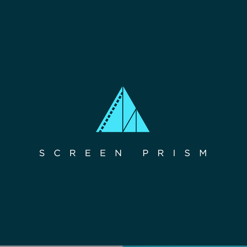 Minimalistic logo for media (film/TV) company