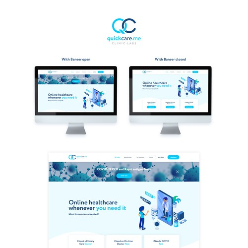 Online healthcare website concept