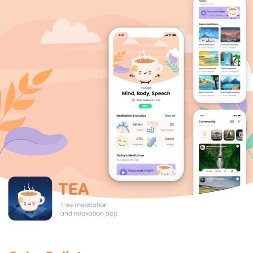 TEA Meditation-based social media