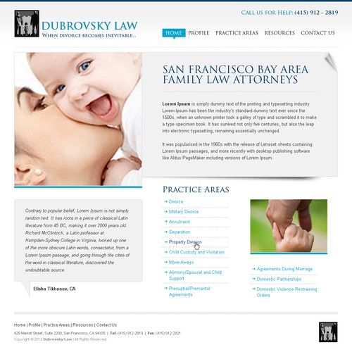 Help Dubrovsky Law with a new website design