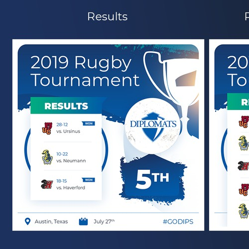Rugby Score Cards - Templates for social media