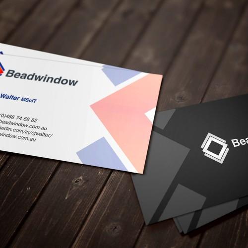 Create a business card for Beadwindow