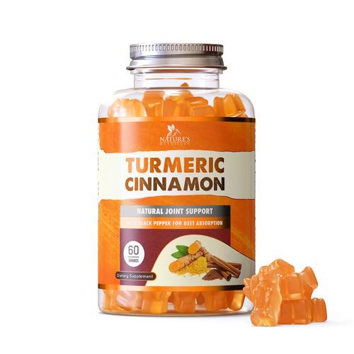 Supplement Gummies label design