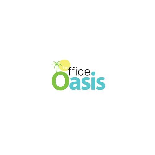 tropical logo concept for oasis