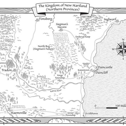Map for fantasy novel