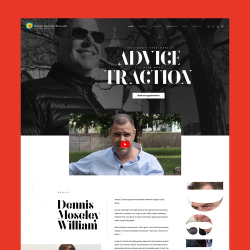 Personal Branding user interface and experience (UI/UX)
