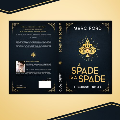 Luxurious book cover for Marc Ford