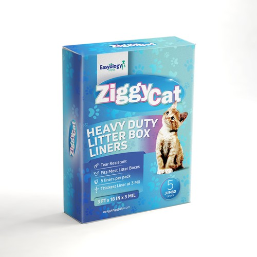 Cat Litter Box Linners Packaging Box