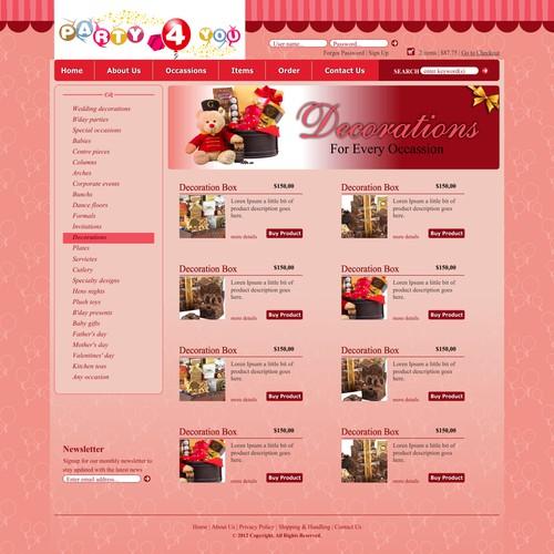 Party 4 you needs a new website design